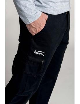 Pantalon Homme Multipoches Gris foncé