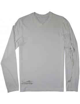 T-shirt Steve S. M. L. XL. XXL. Blanc et Argent