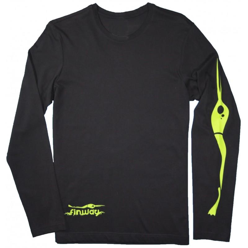 T-SHIRT STEVE S. M. L. XL. Noir et Vert
