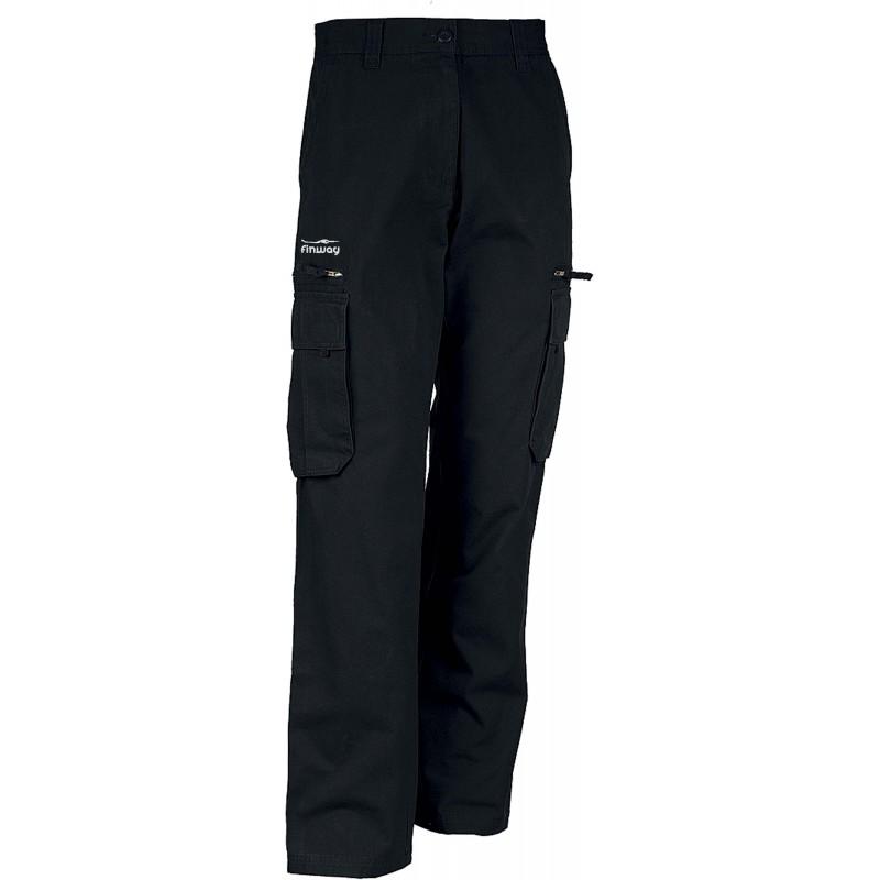Pantalon Homme Multipoches Noir