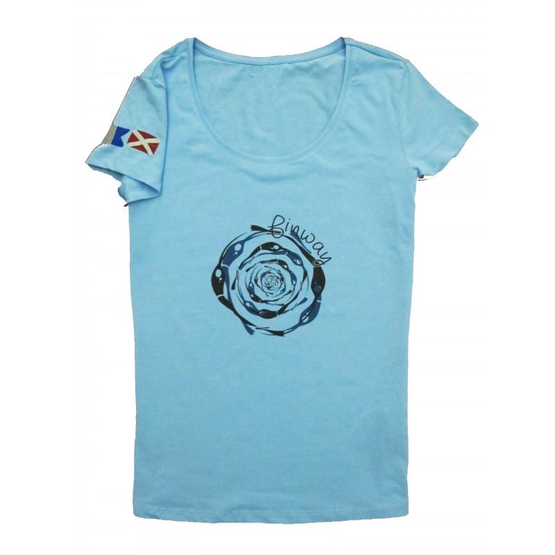 T-shirt Spirale Bleu