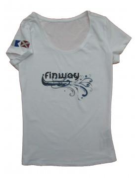 T-shirt Vague Blanc