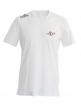 T-Shirt Col V Homme Blanc