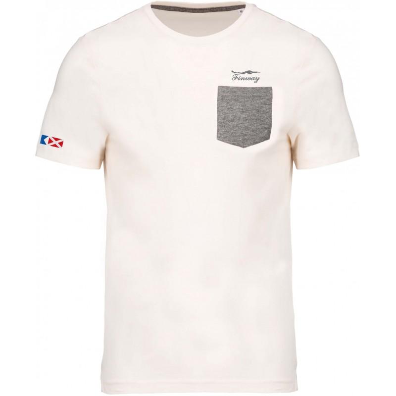T-shirt poche contrastée