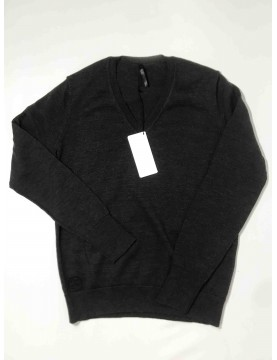 Pullover col V gris femme (Taille M)