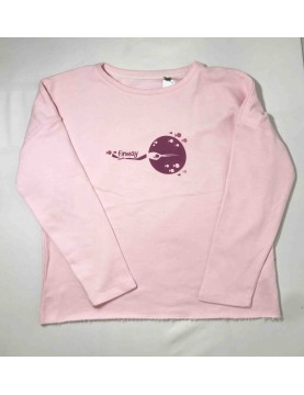 Sweat-shirt rose femme (Taille S/M)