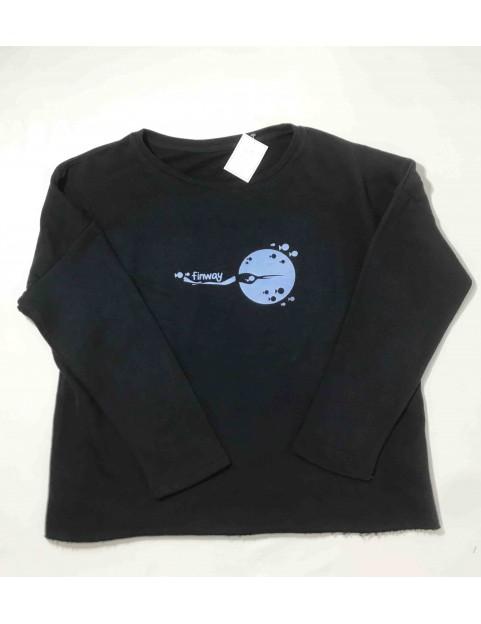 Sweat-shirt bleu femme (Taille S/M)