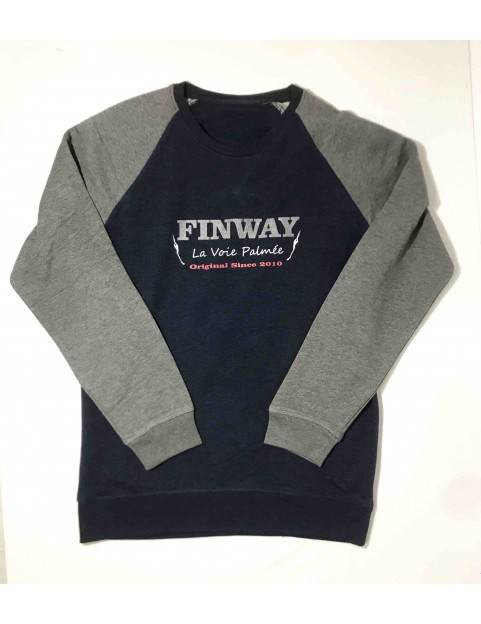 Sweat Navy/Gris Homme (Taille M)