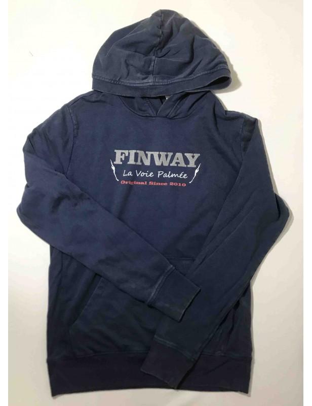 Sweat-shirt à capuche homme VINTAGE NAVY (Taille M)
