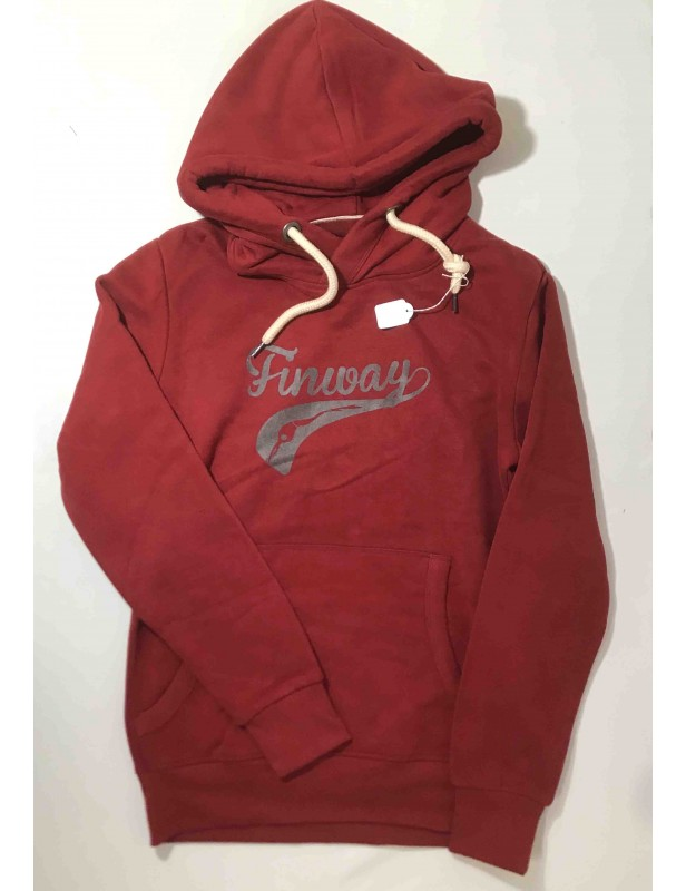 Sweat-shirt capuche homme ROUGE (Taille S)