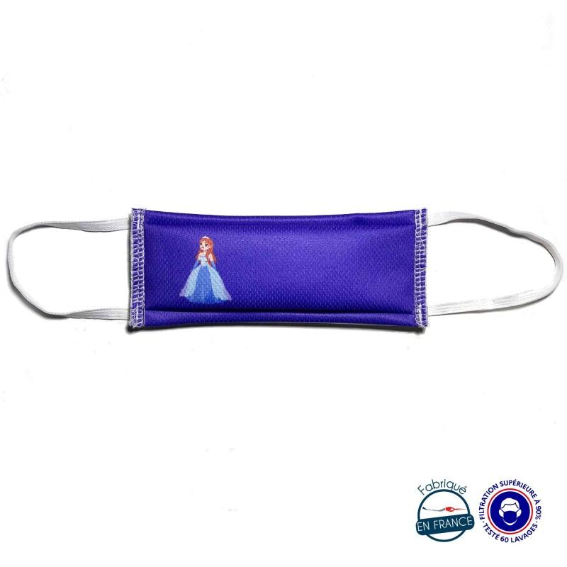 Masque enfant princesse bleu