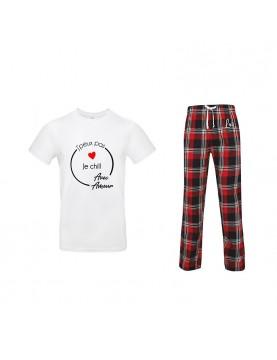 Pyjama assorti couple homme