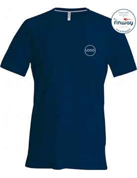 T-shirt homme avec logo sur le coeur (marquage)