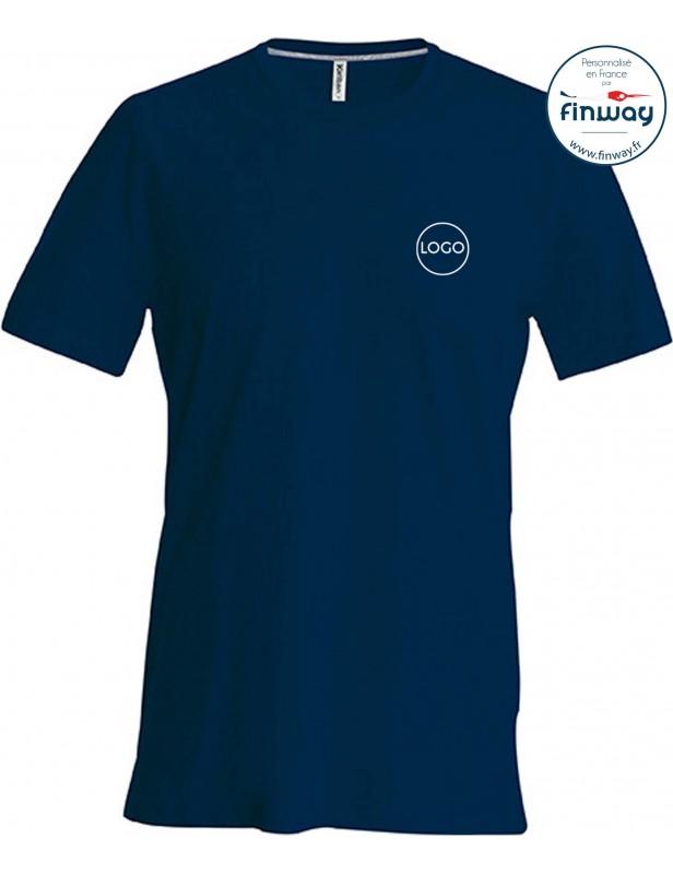 T-shirt homme avec logo sur le coeur (broderie)