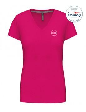 T-shirt femme avec logo sur le coeur (broderie)