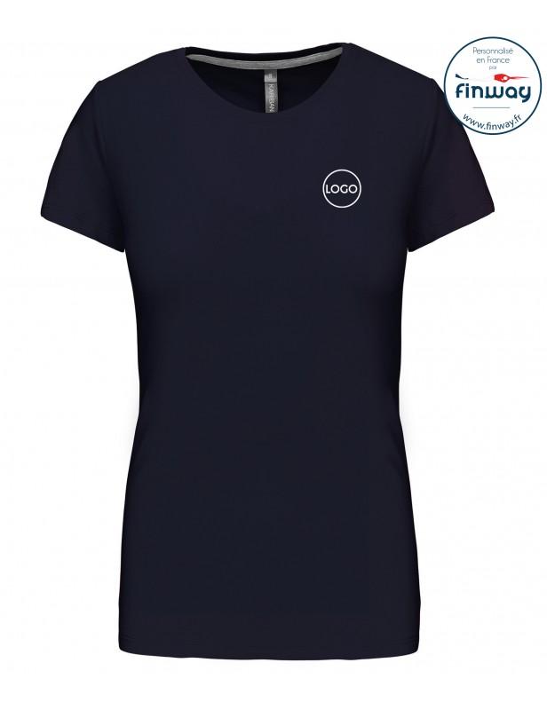 T-shirt femme avec logo sur le coeur (marquage)