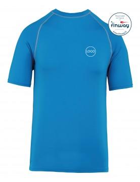 T-Shirt Sport Aquatique avec logo sur le coeur (Marquage) BLEU OCEAN