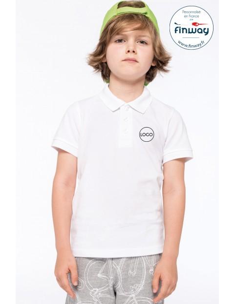 Polo manches courtes Enfants avec logo sur le coeur